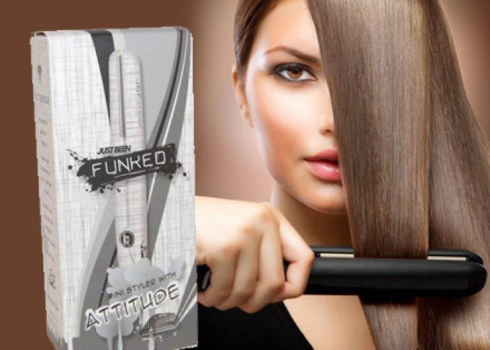 Funked designos hajegyenesítők, LED jelzéssel, fűtés idő 15 másodperc, keskeny kerámia lapok, 2 féle színben