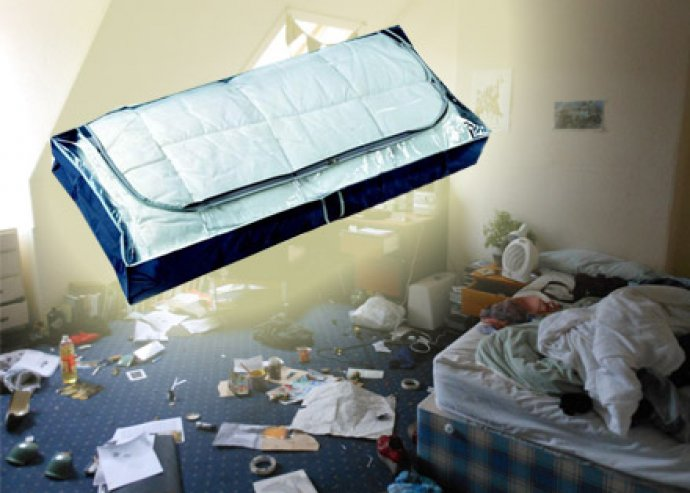 Cipzáras ágy alatti tároló, amely védelmet nyújt a por, piszok és molylepkék ellen!