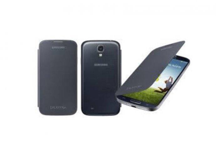 Elegáns Galaxy S4 fekete flip telefontok, amely megvédi a készüléked a sérülésektől és karcolódásoktól