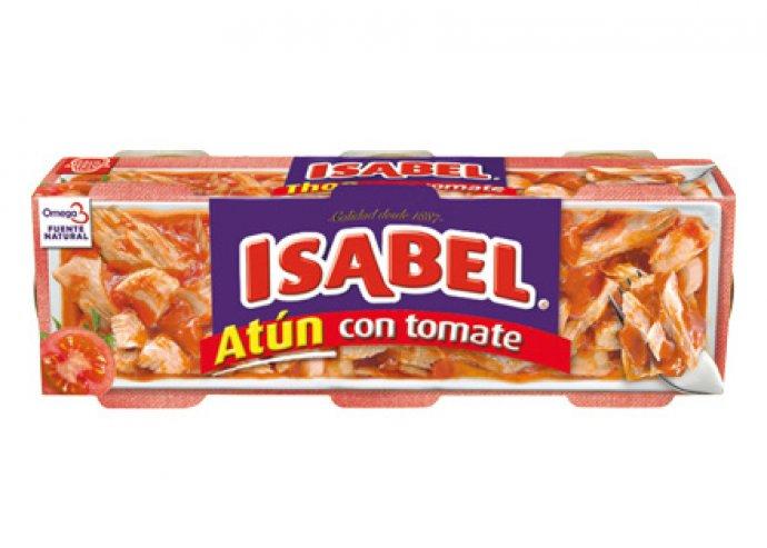 3 doboz, összesen 9 darab Isabel paradicsomos tonhal, prémium minőségű tonhalból és paradicsomból készül