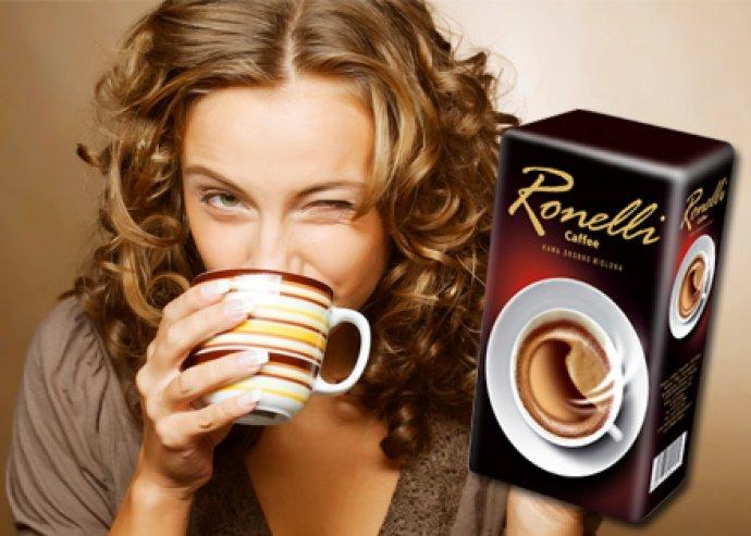 3 csomag 250 g-os Ronelli őrölt, pörkölt kávé, dél-amerikai és afrikai kávészemekből, magas koffein tartalmú
