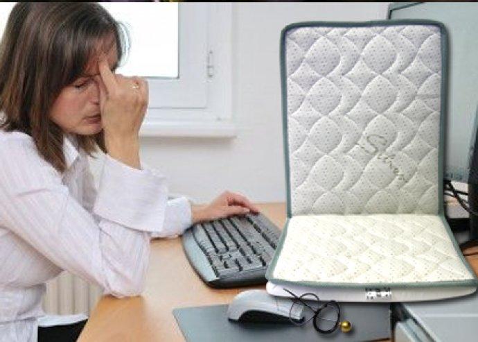 Elektroszmog szűrő ülőpárna, összegyűjti és megszűri a szervezetre ható káros sugárzást, ezüstszálas huzattal