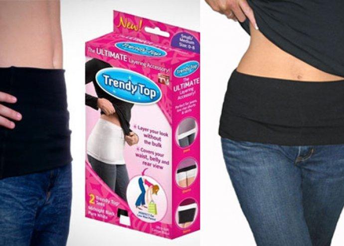 Trendy top alakformáló derékmelegítő, megvéd a hidegtől, divatos kiegészítő, egy méretben, fekete színű