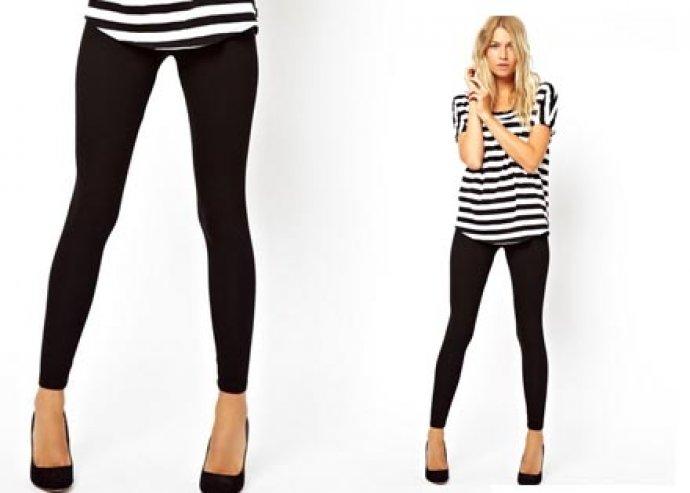 Kiváló minőségű thermo leggings fekete színben, mely optikailag karcsúsítja a tested vonalát