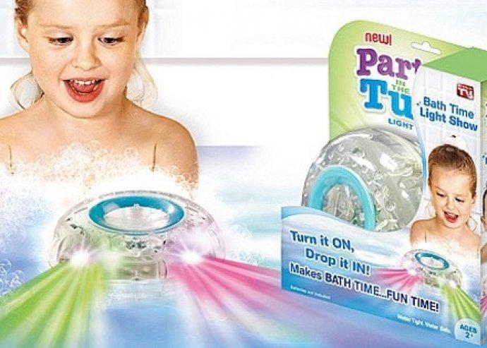 Party in the tub light világító, vízálló fürdőszobai gyermekjáték, 6 féle világítással, biztonságos és tartós