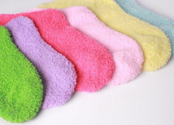 Készülj a télre - 5 pár színes, meleg női zokni, 2 méretben, 100% pamutból