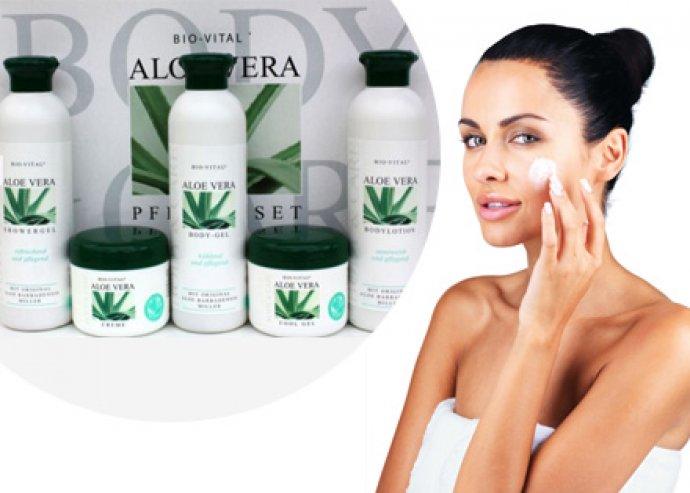 5 darabos Aloe Vera krém szett minden bőrtípusra, az Aloe vera miden jótékony hatásával