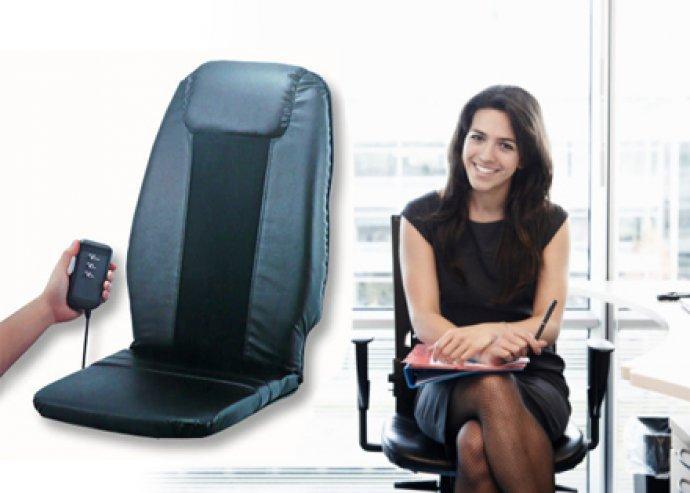 Lazíts kedvedre bármikor! Rendkívül kényelmes, hordozható hátmasszírozó, irodai vagy otthoni használatra