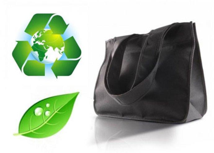 Nagyon masszív, környezetbarát bevásárló táska, újrahasznosított polietilén anyagból