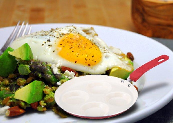 2 rétegű kerámia bevonatú tojás- és palacsintasütő, az egyszerű sütésért