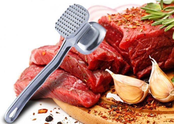 Könnyen tisztítható, 2 oldalas, rozsdamentes húsklopfoló, a tökéletes húsokért