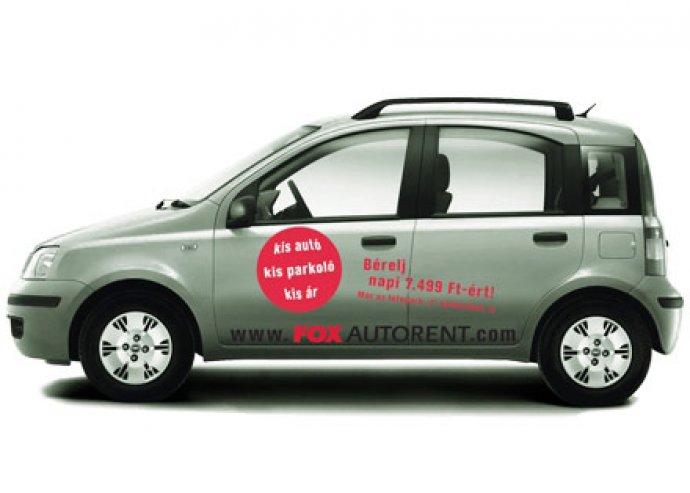 Fiat Panda gépkocsi bérlés a FOX AUTORENT-től, 5.625 Ft/nap áron!