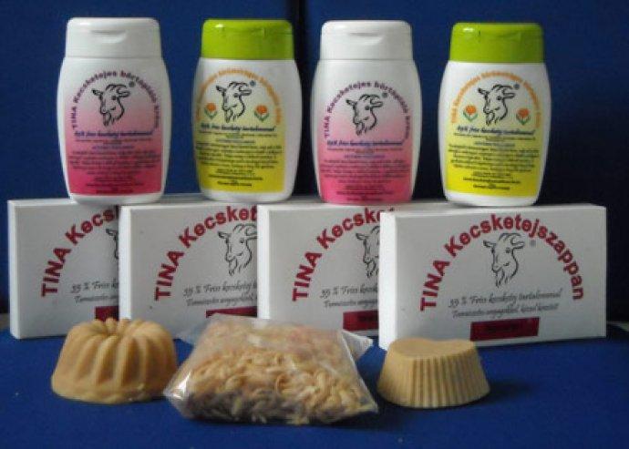 Kézzel készült TINA kecsketejkozmetikum csomag