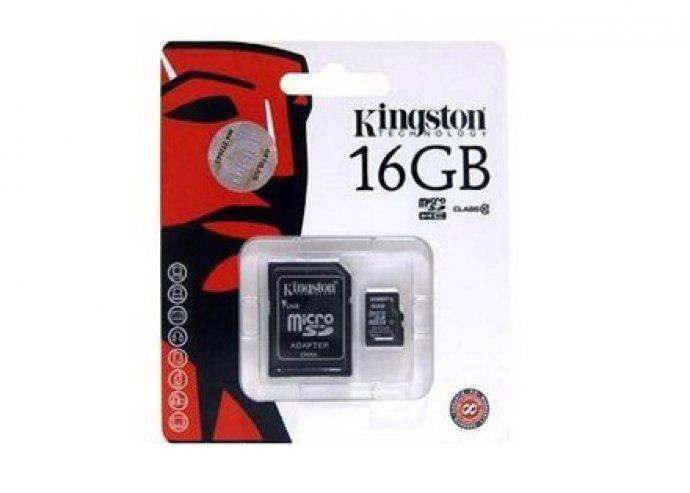 Kingston 16 GB sd kártya, 1 év garanciával
