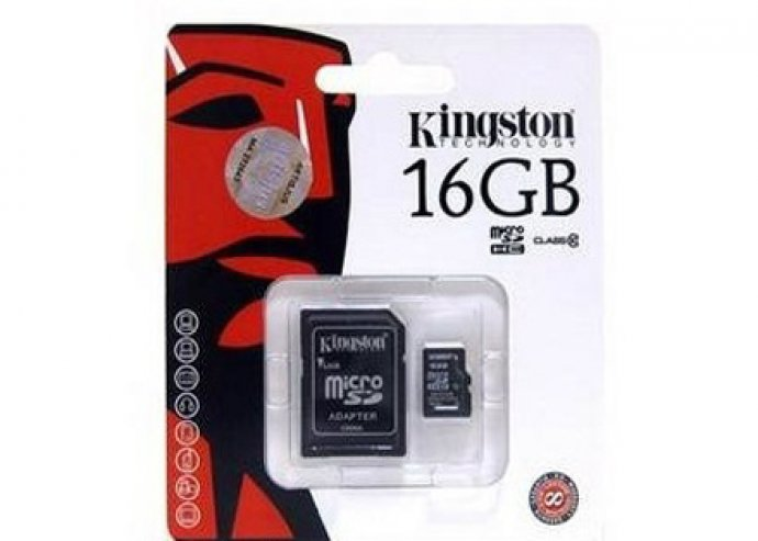 Kingston 16 GB sd kártya (1 év garancia)