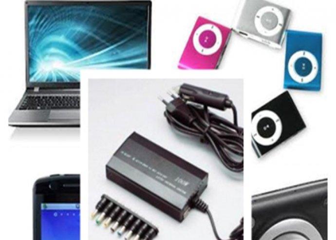 3 in 1 univerzális laptop töltő otthon vagy akár autóban