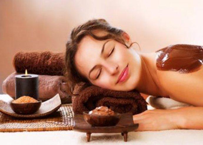 30 perces luxus csokoládés hátmasszázs a pihe-puha bőrért