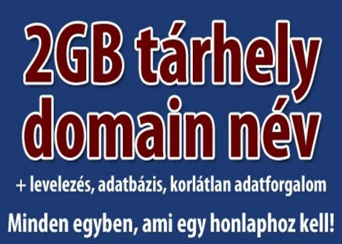 Tárhely és domain név 1 évre