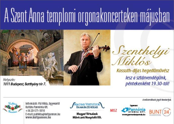 Felejthetetlen orgonakoncert a Szent Anna templomban