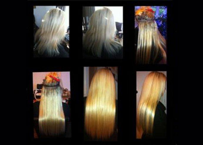 Hajhosszabbítás orosz hajból