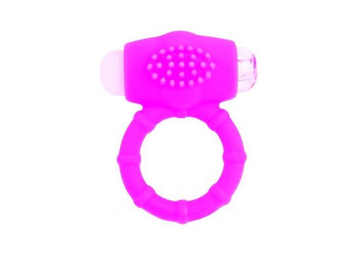 A-TOYS szilikon, rózsaszín, vibrátoros péniszgyűrű