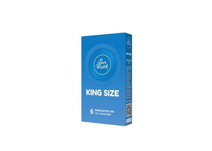 LOVE MATCH King size XXL óvszer 6 és 144 db-os kiszerelésben