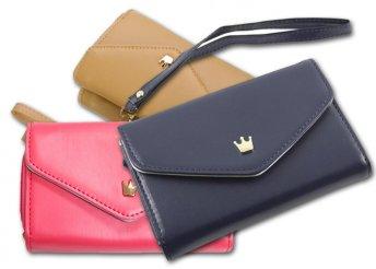 3 divatos színben kapható, különleges kialakítású, stílusos telefontok, amely pénztárca is egyben