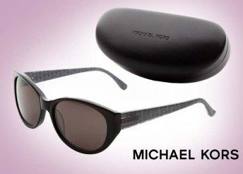 Igényes Michael Kors napszemüveg, elegáns fekete-szürke színben, ajándék tokkal, színvonalas hölgyeknek