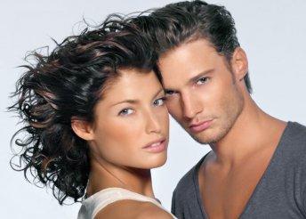 Férfi vagy női hajvágás pakolással