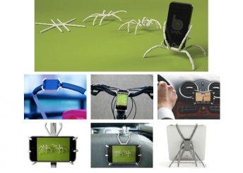 Pók alakú telefon vagy tablettartó