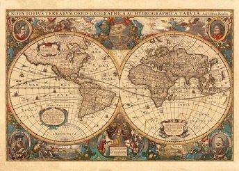 Antik világtérkép 1000 db-os puzzle