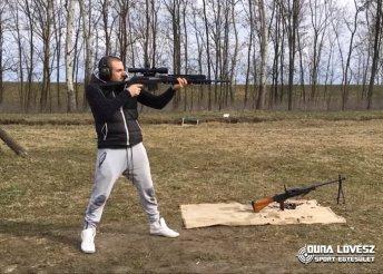 Egy tár ellövése KolArms típusú fegyverrel