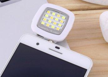 Külső LED lámpa és kameravaku mobilokhoz