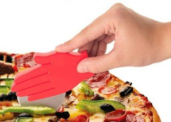 Kéz formájú pizzavágó