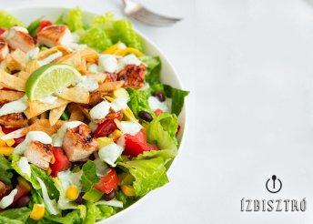 Mindent bele fitness ital Csirkés salátával