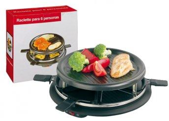 Raclette grillező hőszigetelt fogóval