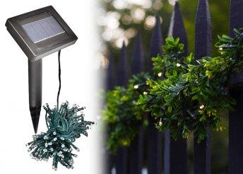 100 LED-es napelemes kerti fényfüzér