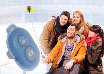 Bluetooth-os aktiváló gomb selfie botokhoz, okostelefonokhoz, iOS és Android operációs rendszerekhez