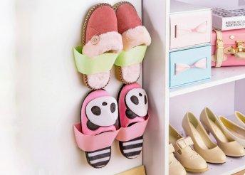 Praktikus tartó cipőknek, papucsoknak öntapadós hátoldallal háromféle színben