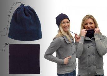 Praktikus, polár anyagú sapka és nyakmelegítő sál egyben, 3 választható színben, hogy hidegben és havazásban i
