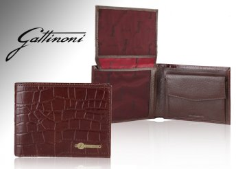 Kiváló minőségű Gattinoni férfi bőr pénztárca
