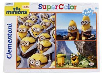 Clementoni SuperColor 3x48 db-os Minionos puzzle
