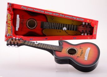 60 cm-es, hat húrral ellátott gyermek játékgitár