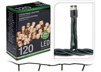 12 méter, 120 LED-es melegfehér fényfüzér