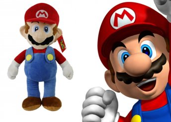 90 cm-es, puha Mario plüss figura