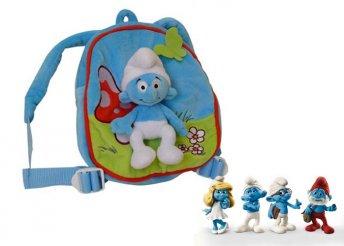 Hupikék törpikék plüss mini hátizsák