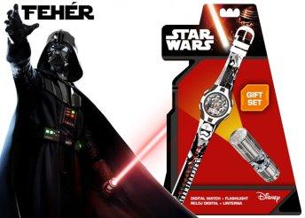 Star Wars-os digitális karóra LED-es elemlámpával