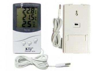 Digitális külső-belső hőmérséklet és páratartalom mérő