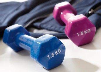 1,5 kg kézi súlyzó csúszásmentes felülettel két színben