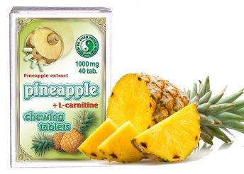 1000 mg-os Dr.Chen ananász rágótabletta L-karnitinnel 40 db-os kiszerelésben